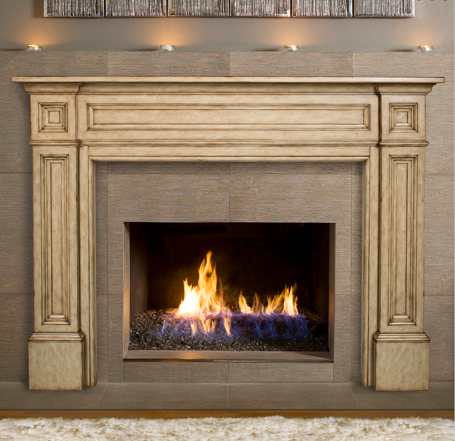 "56"" The Tuscany Finish Classique Surround Mantel"
