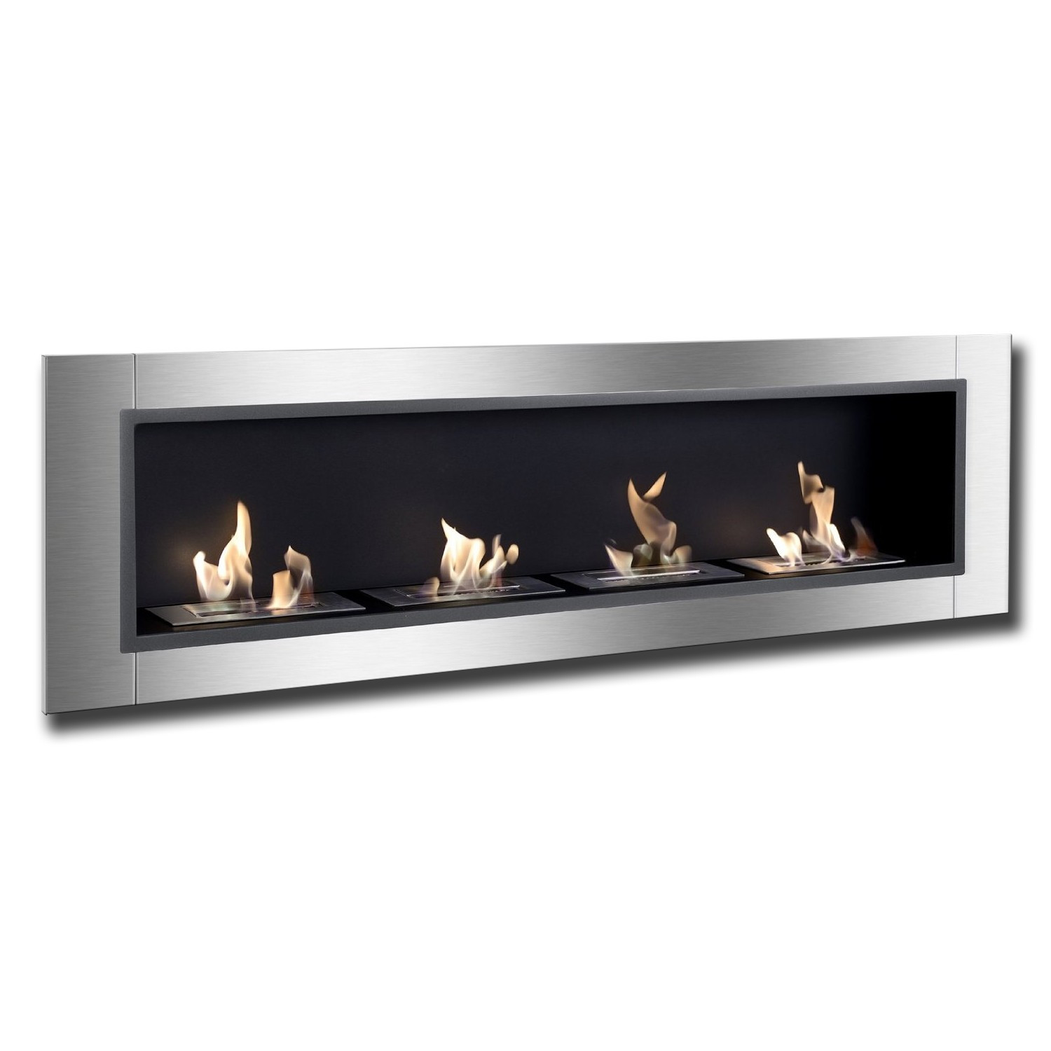 Natural gas wall mount fireplaces -  67 Ignis Accalia Wall Mounted Recessed Ventless Ethanol Fireplace