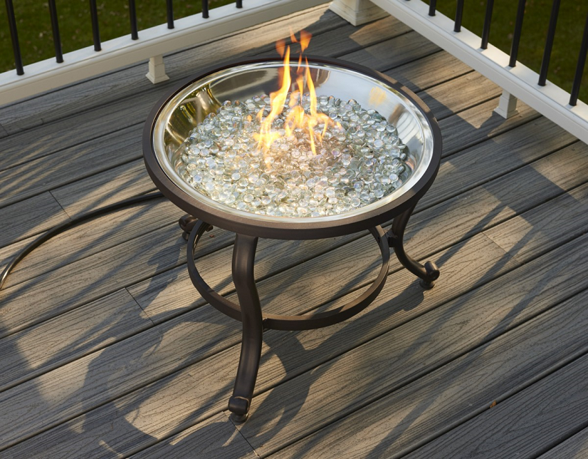 - 22.5'' Triplus Crystal Fire Pit Table
