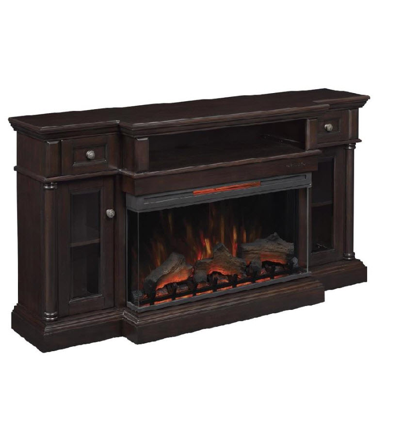 68 Quot Cherry Hill Espresso Tv Stand Infrared Electric Fireplace