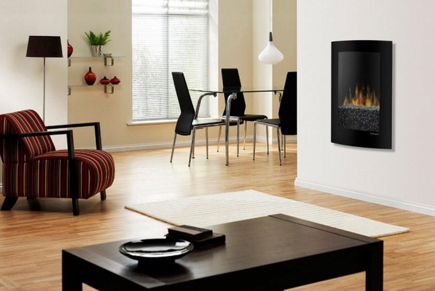 22.75 inch Dimplex Convex Black Electric Wall Fireplace