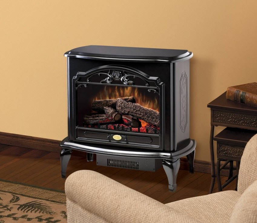29 6 Quot Dimplex Celeste Black Stove Electric Fireplace