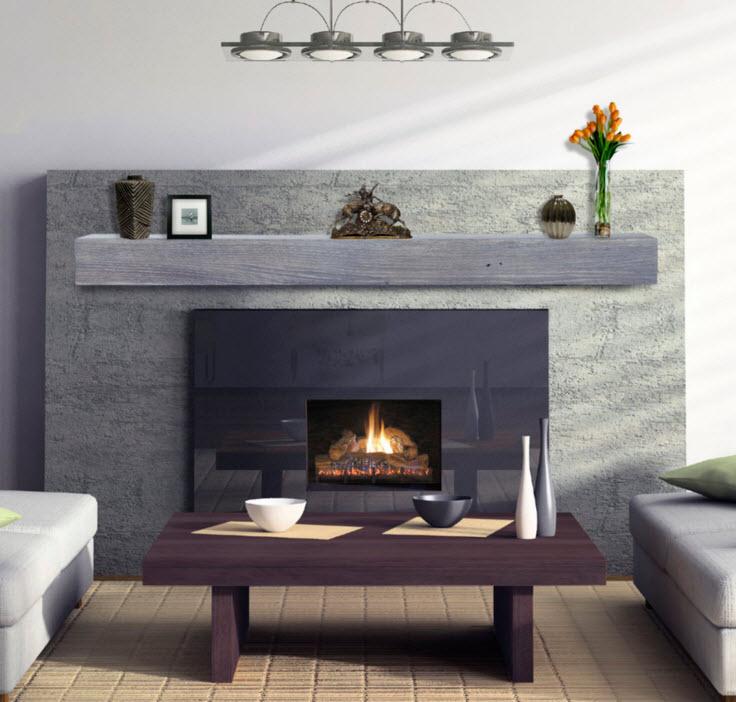 48 60 72 Heritage Driftwood Finish Reclaimed Mantel Shelf