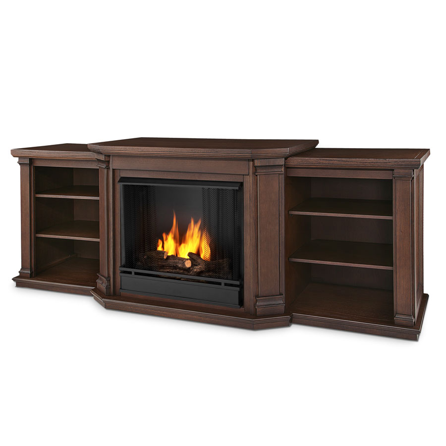 75 5 Valmont Chestnut Oak Entertainment Center Gel Fireplace