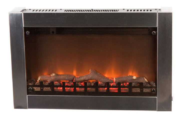 """31"""" Moderna Stainless Steel Wall Mounted Electric Fireplace"""