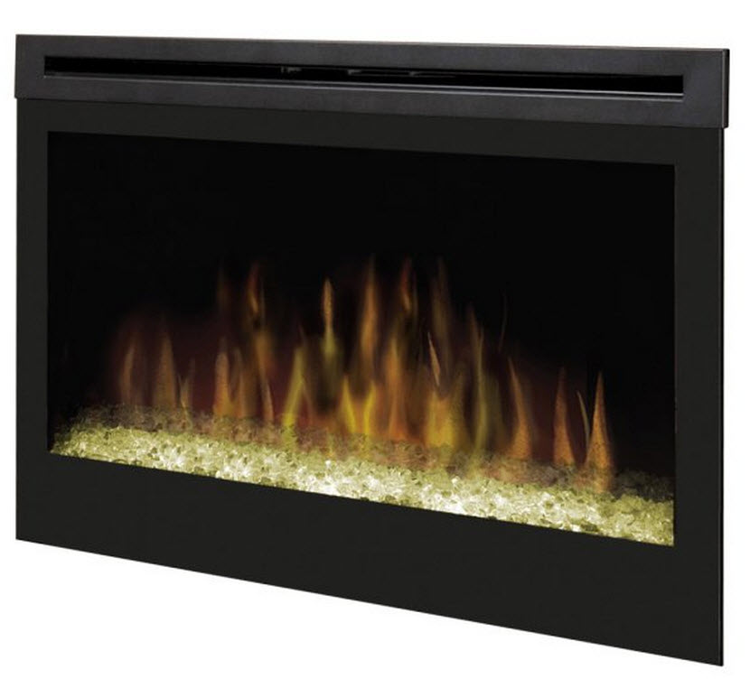 "33"" Dimplex Glass Ember Bed Electric Fireplace Insert"