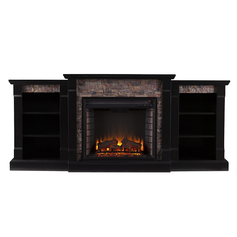 ... Electric Fireplace w/ Bookcases - Black. Ask a question about this  product - 71.75