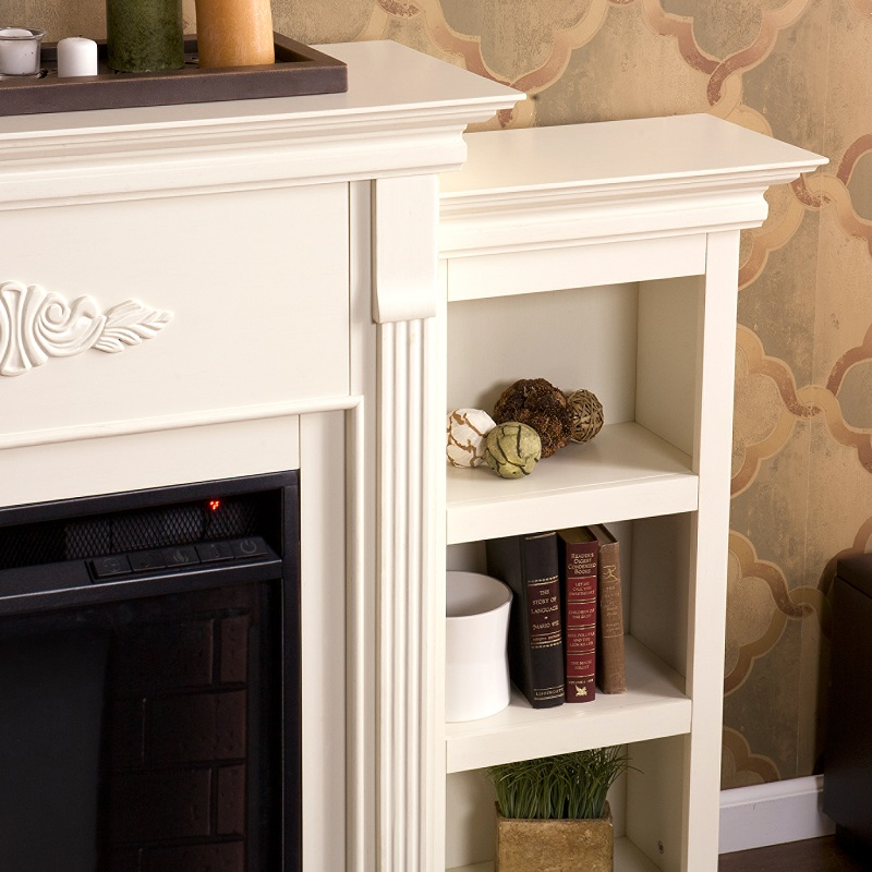 cottage amazon dp ivory shelf bookcase bookcases shaker four tall alaterre com