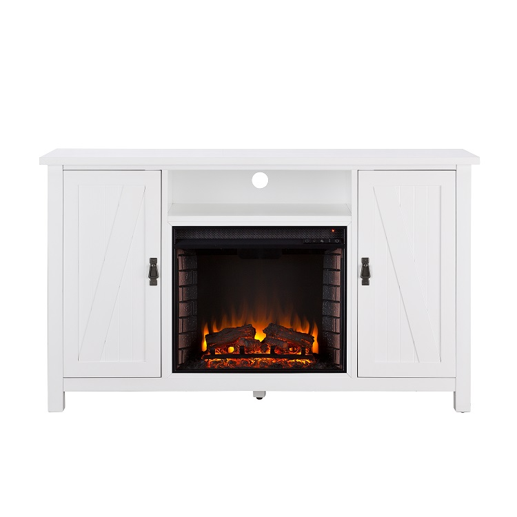 58 Quot Adderly Farmhouse Style Electric Fireplace Tv Stand