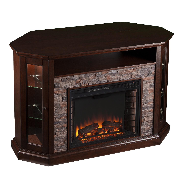 52 25 Quot Redden Corner Convertible Electric Media Fireplace