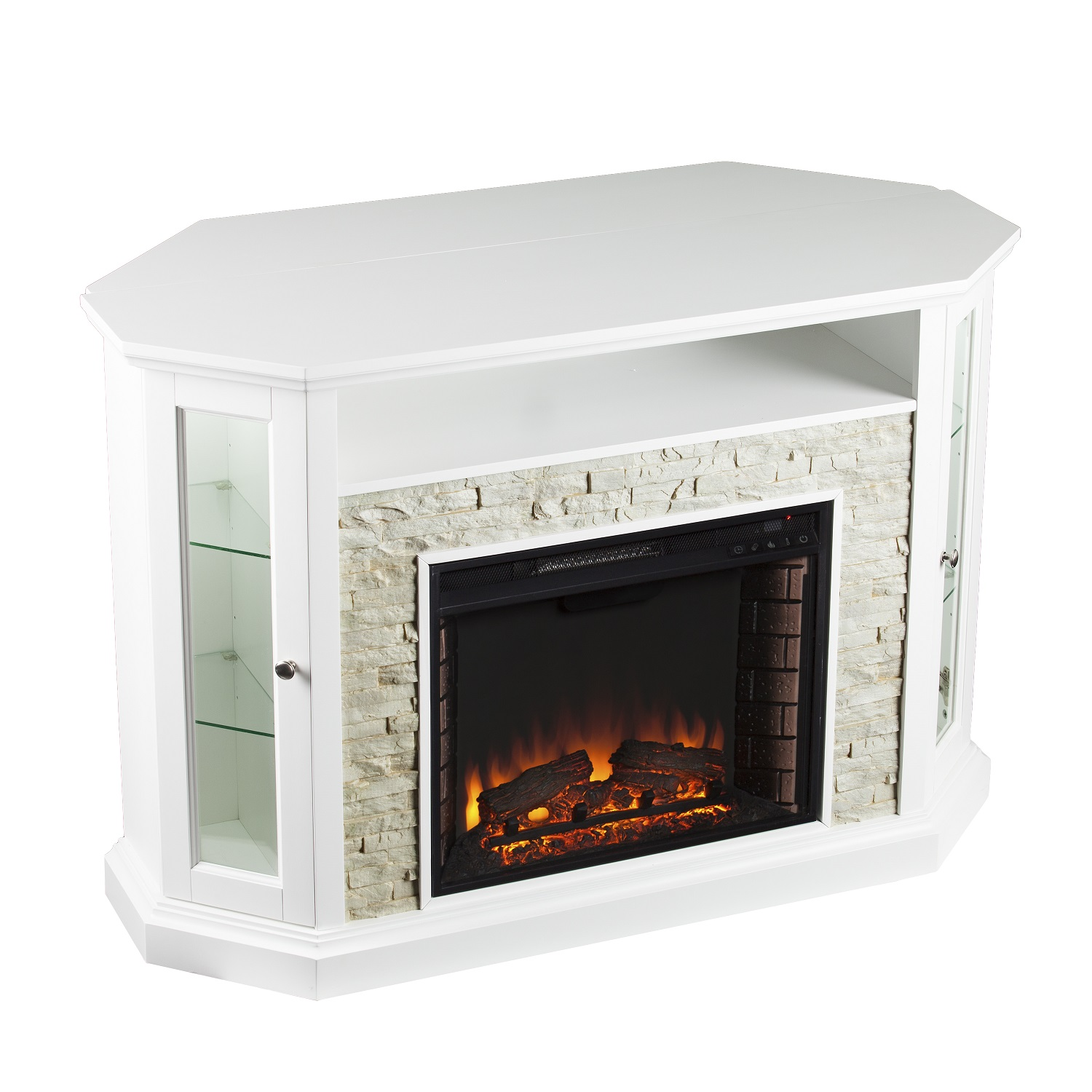 52 25 Quot Redden Corner Convertible Electric Media Fireplace