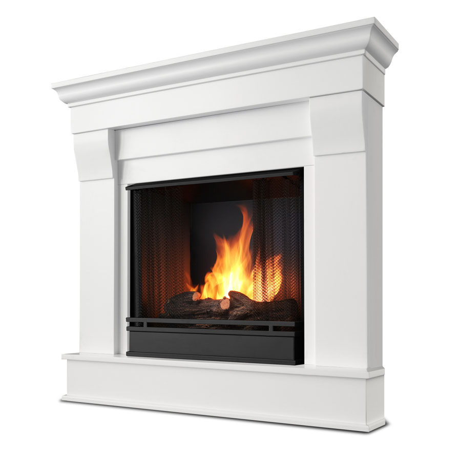 40 94 Quot Chateau White Corner Gel Fireplace