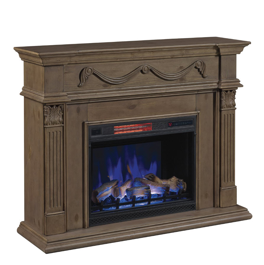 55 Quot Gossamer Pine Infrared Electric Fireplace