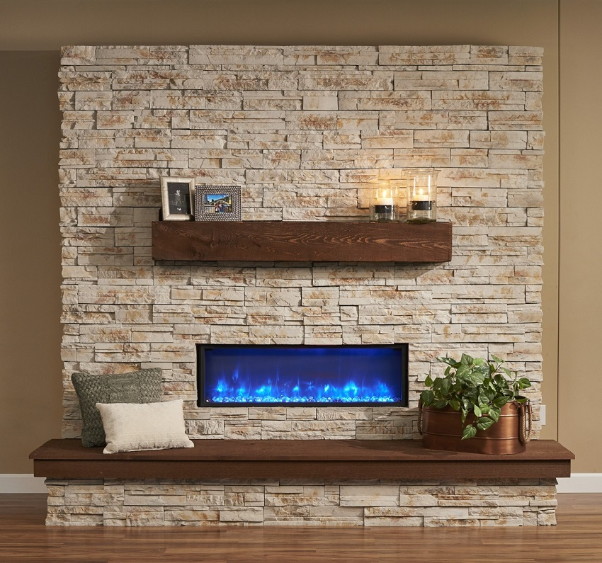 44 64 Built In Linear Gallery Collection Electric Fireplace