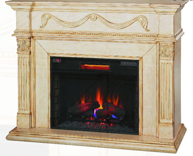 55 Gossamer Antique Ivory Electric Fireplace 28wm184 T408