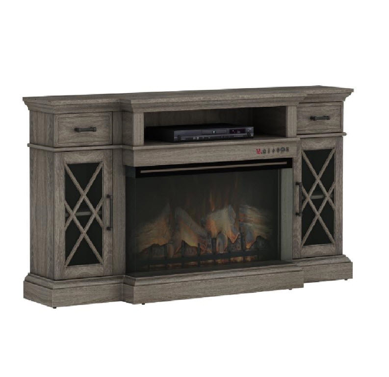 70 Quot Hamilton Weathered Gray Tv Stand Infrared Electric