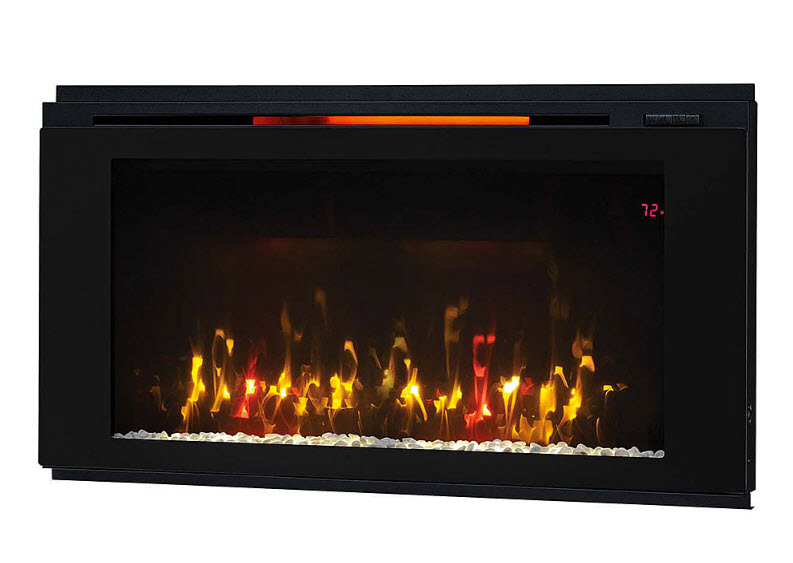 Dwell Engineered Midnight Cherry Media Mantel Electric - Mantel electric fireplace