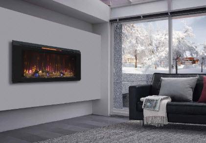 48 Helen Flat Glass Wall Fireplace, Flat Wall Fireplace