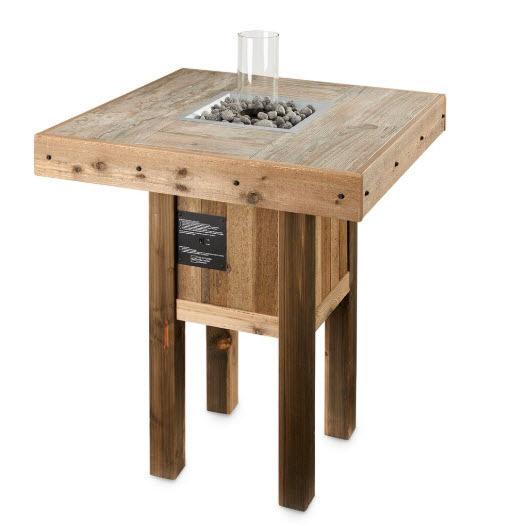 Westport Pub Fire Table with Intrigue Burner