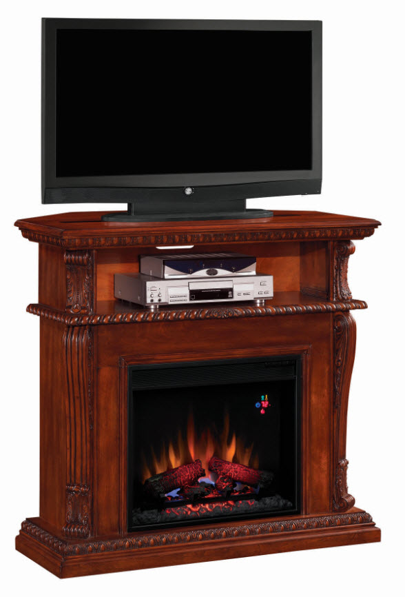 42 39 39 corinth vintage cherry entertainment center wall and