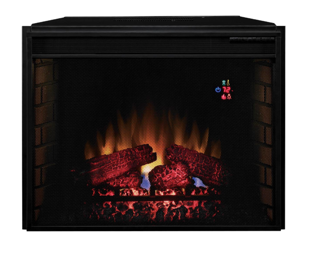"The 28"" ClassicFlame SpectraFire Electric Fireplace Insert is the perfect option for in-wall or cabinet applications."