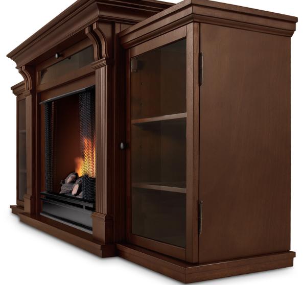 dark espresso finish ashley fireplace entertainment center 2