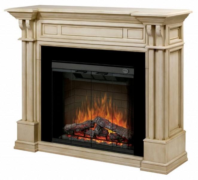63 Quot Dimplex Kendal Parchment Purifire Electric Fireplace