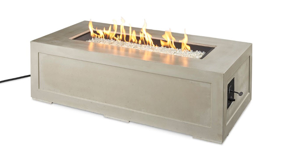 Linear Cove Fire Pit Table