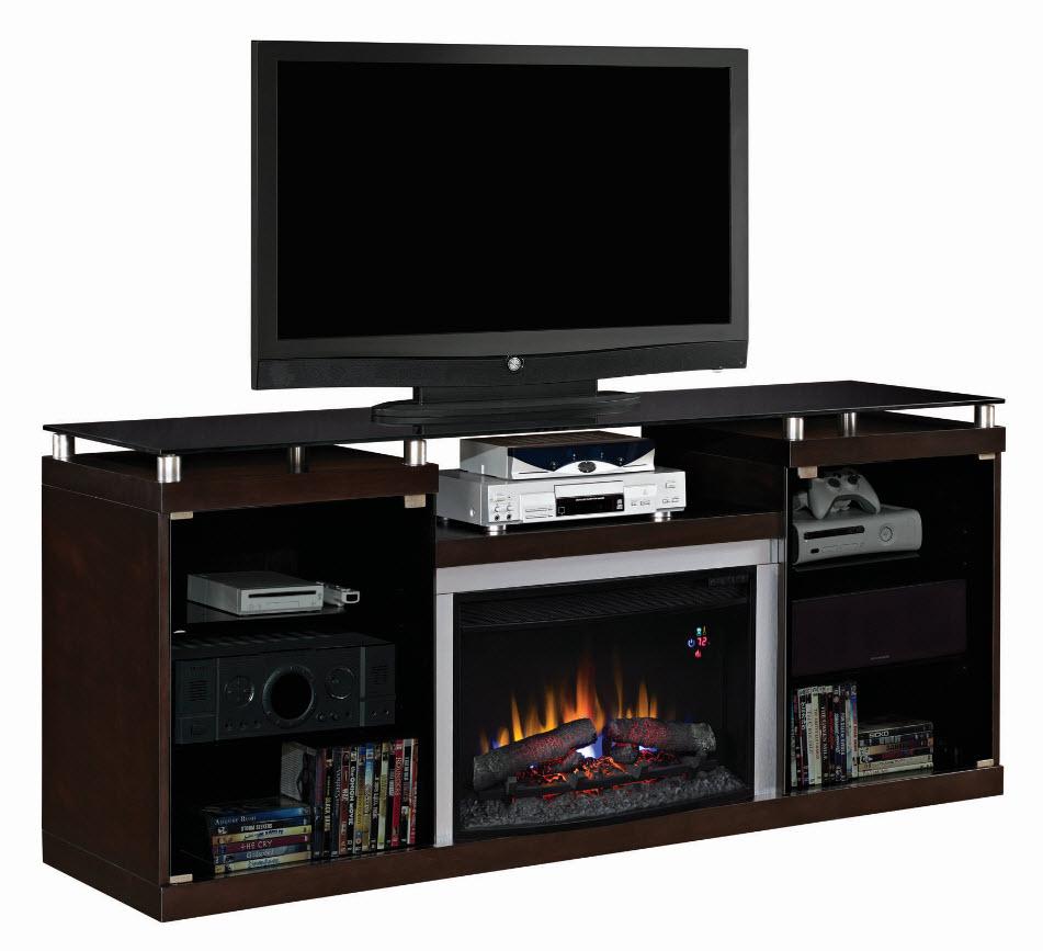 72 39 39 Albrite Espresso Entertainment Center Electric Fireplace 26mm9404 E451