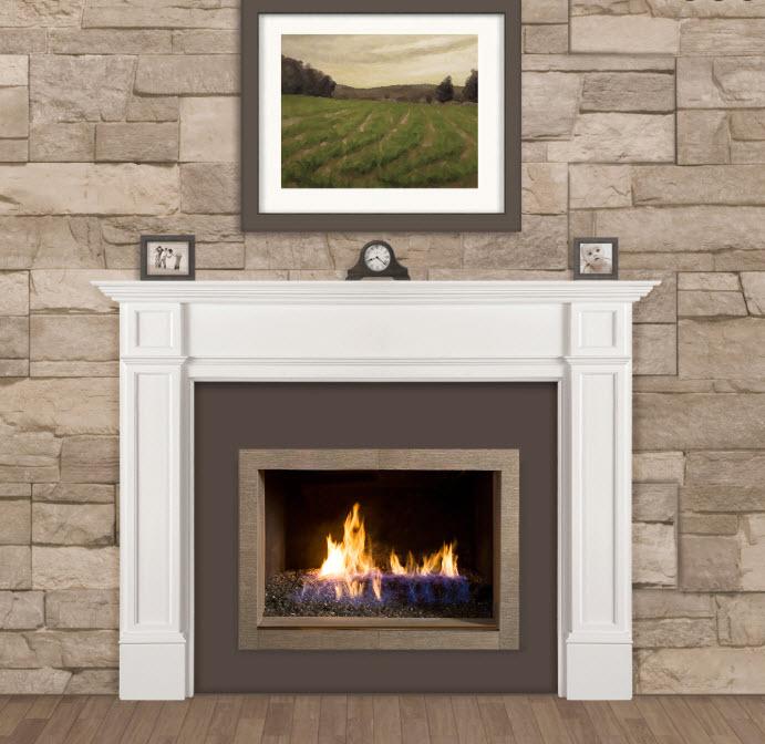 56 Marshall White Fireplace Mantel