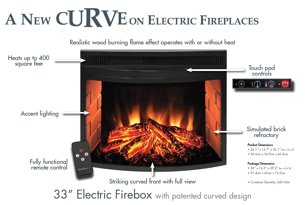 a new curve on electric fireplaces portablefireplace