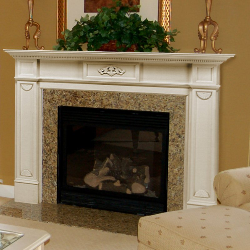 48 56 monticello fireplace mantel surround for Fire place mantel ideas