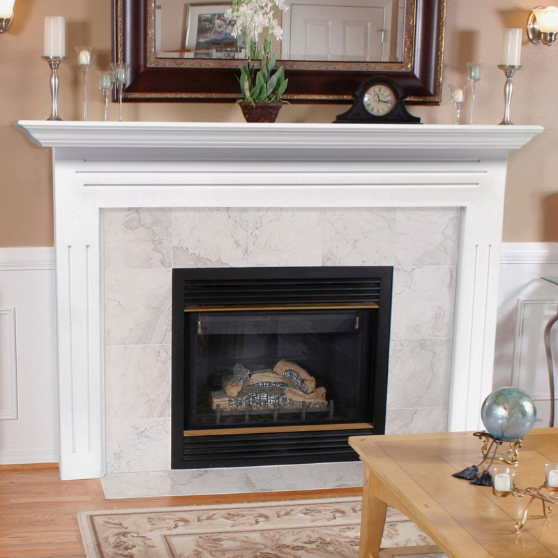 This fireplace mantel surround is 40 inches of majestic