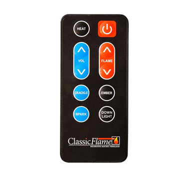 Classic Flame Electric Fireplace Remote