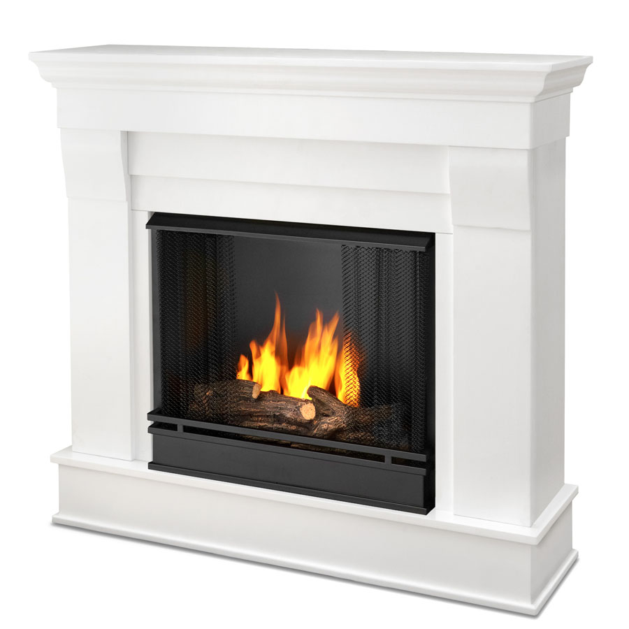 Chateau White Gel Fireplace