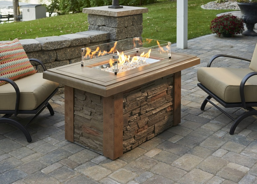 49 Quot Sierra Linear Outdoor Fire Pit Table