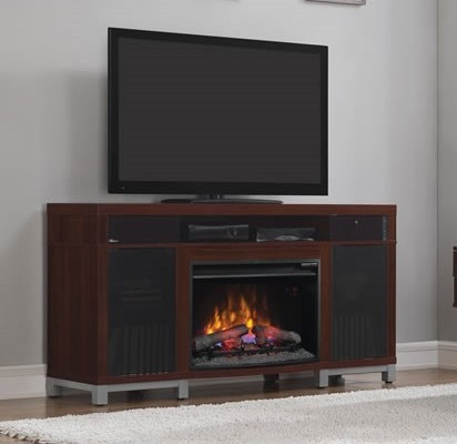 59 5 Quot New Roxbury High Gloss Cherry Media Electric Fireplace