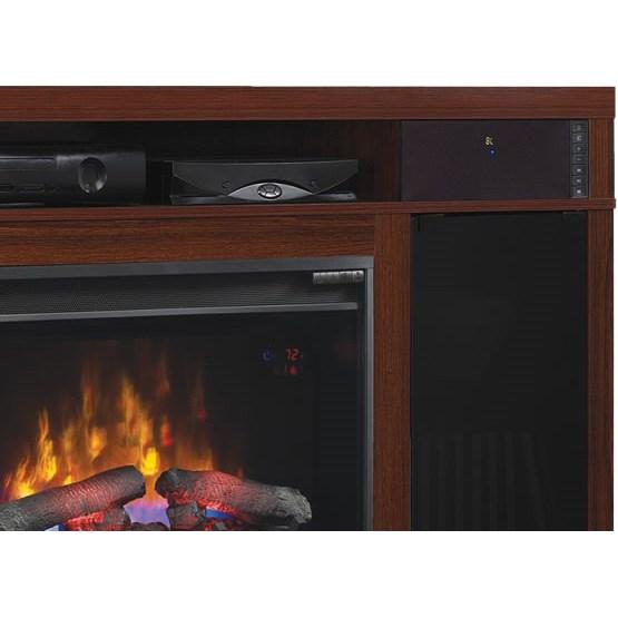 59 5 Quot New Roxbury High Gloss Cherry Media Electric Fireplace