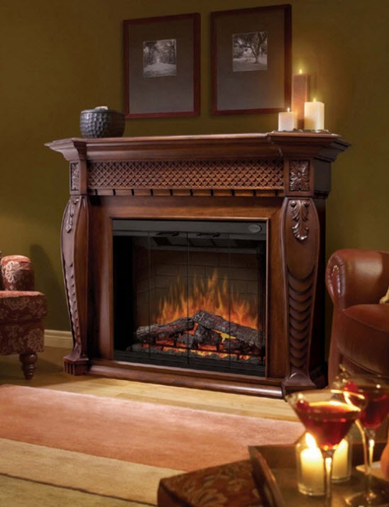 Dimplex Vienna Burnished Walnut Purifire Electric Fireplace