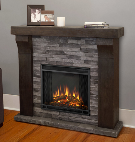 pics photos rustic electric fireplace
