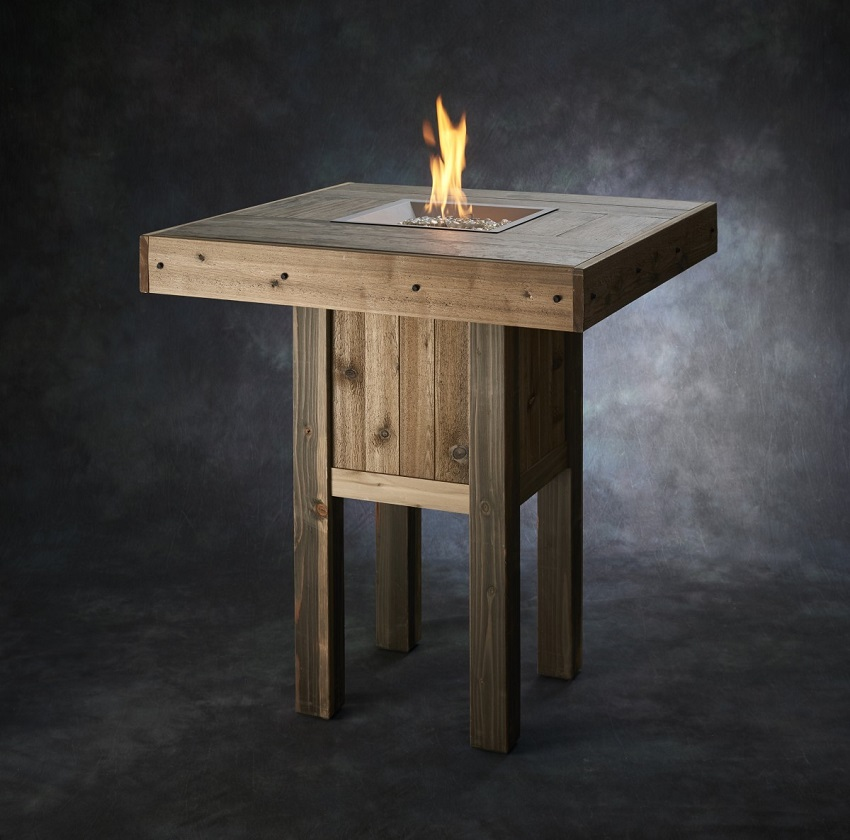 "Westport Pub Fire Table with 16"" Burner"