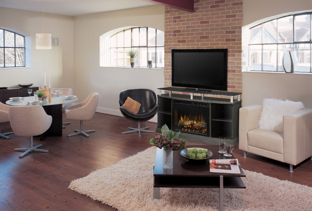 53 Quot Dimplex Windham Media Console Electric Fireplace With