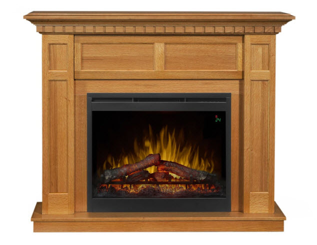 50 Quot Dimplex Wilson Rift Oak Logs Mantel Electric Fireplace