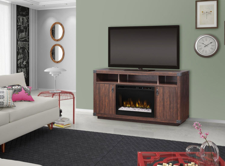 59 3 8 Quot Dimplex Dale Realogs Or Acrylic Ice Media Console