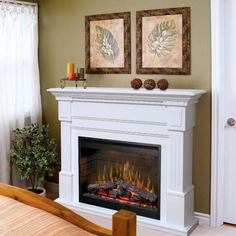 54 8 Quot Dimplex Essex White Purifire Electric Fireplace