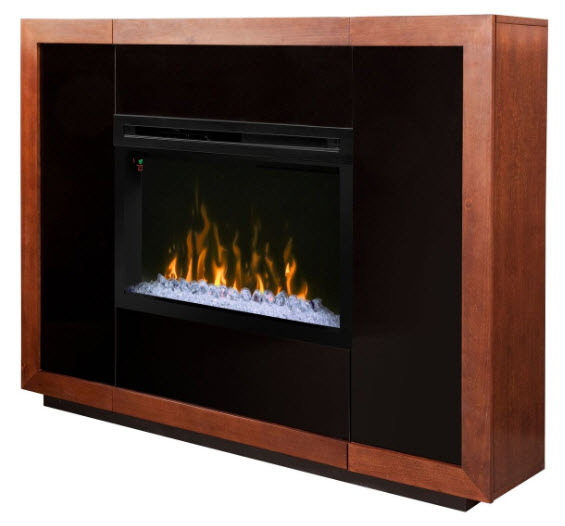 65 Quot Dimplex Salazar Mantel Glass Or Log Bed Electric Fireplace