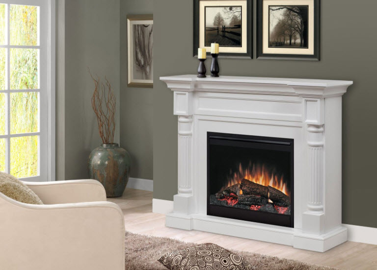 52 6 Quot Dimplex Winston White Electric Fireplace