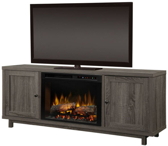 65 Quot Dimplex Jesse Media Console Electric Fireplace With Logs