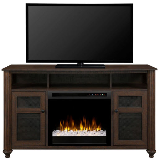 56 dimplex xavier media console electric fireplace with - Going to bed with embers in fireplace ...