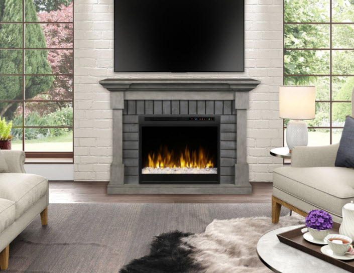 52 Quot Dimplex Royce Electric Fireplace Mantel With Glass